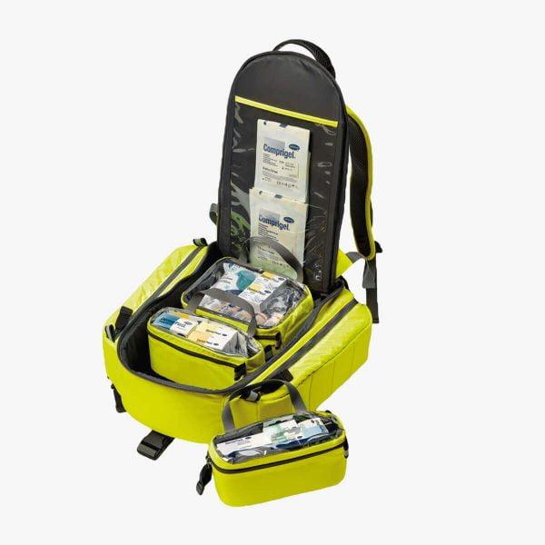 Erste-Hilfe-Rucksack gefüllt DermaPlast Produkten