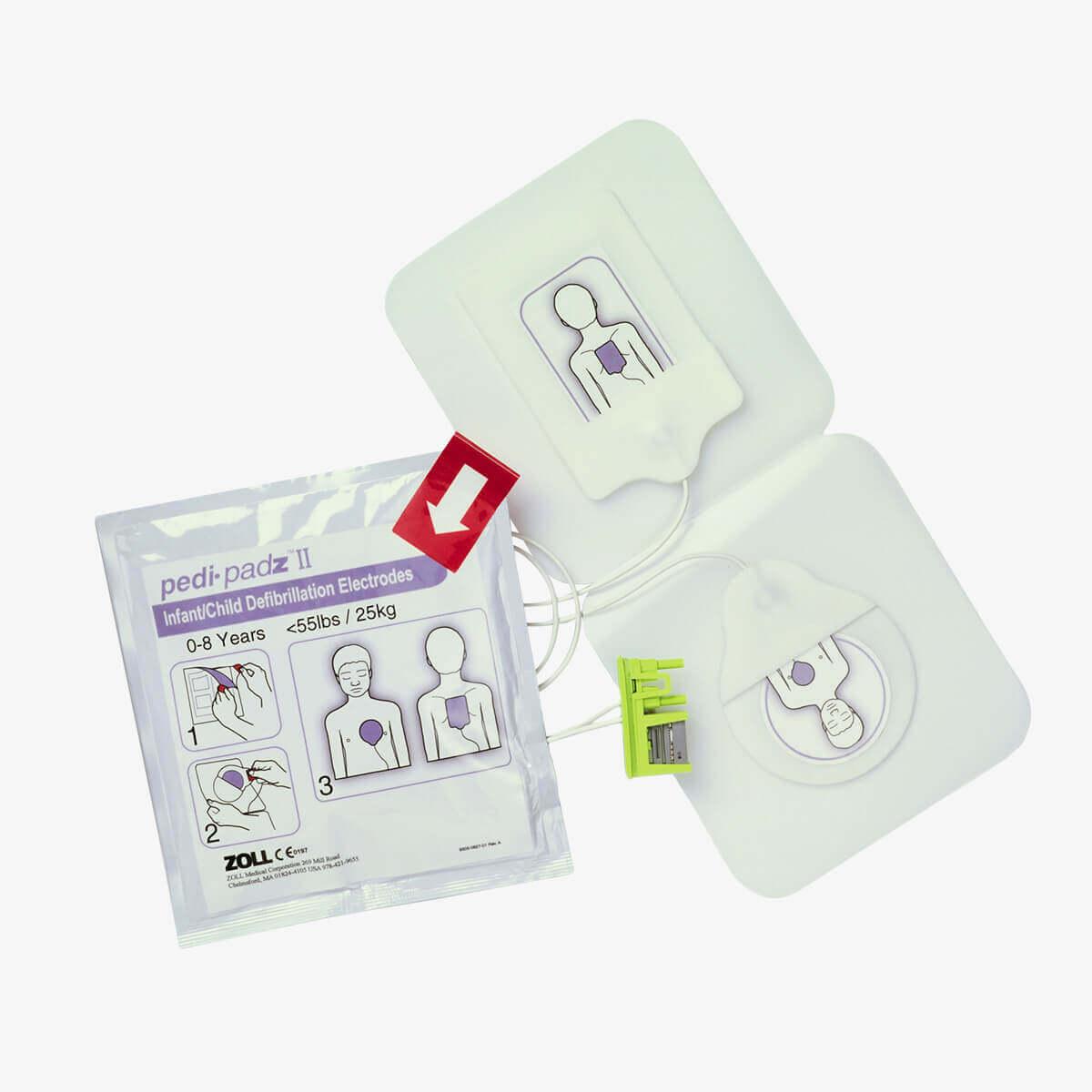 Zweiteilige ZOLL Pedi-padz II Kinderelektrode für den ZOLL AED Plus