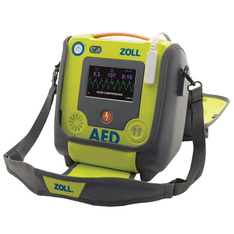 Defibrillator ZOLL AED 3 BLS Tasche SchwarzerScreen