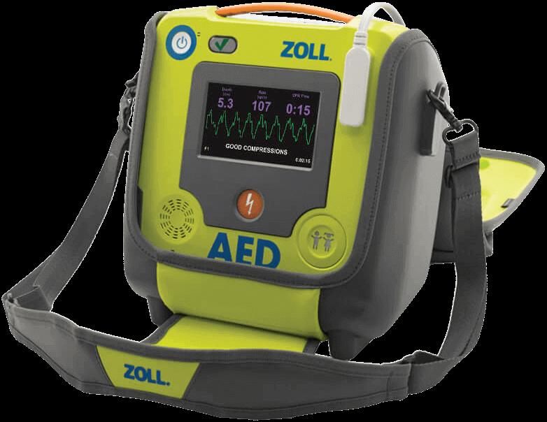 Defibrillator ZOLL AED 3 BLS Tasche SchwarzerScreen Zugeschnitten