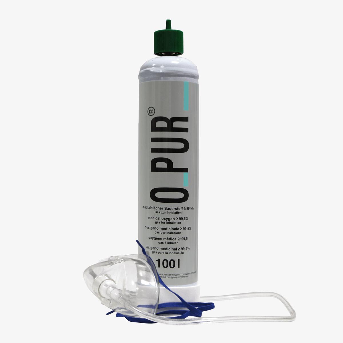 O Pur Sauerstoff 100 Liter mit Maske